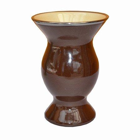 Cuia de Cerâmica Platina Cor Marrom