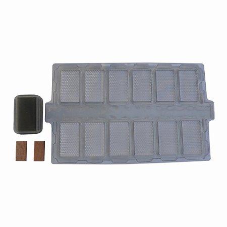 Caixilho De Plástico Aberto Para Favos In Natura - 10 Unidades