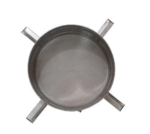 Peneira Inox Tela Fina Para Filtragem Do Mel Em Decantador - 450mm