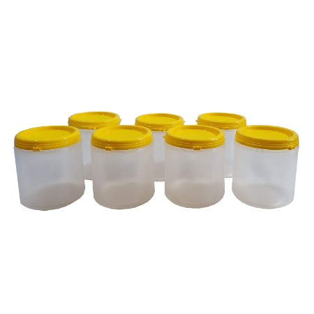 Pote Plástico Para Embalar Mel Com Tampa Lacre 1Kg - 100 UN