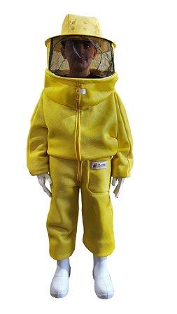 Macacão Apicultura Malha Livre Infantil Amarelo 02-81MI