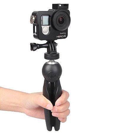 K3 mini tripé para smartphone e suporte do telefone suporte de montagem para iphone x 7 canon nikon gopro câmera selfie portátil monopé acessório projetor tripé