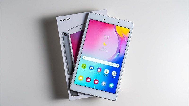 "Tablet Samsung Galaxy Tab A 32GB Octa-Core 1.8GHz Wi-Fi + 4G Tela 10,1"" Android Pie - Prata"