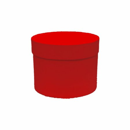 Caixa Rígida Redonda 15,5cmx12cm  Vermelha