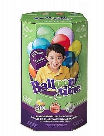 Cilindro de gás hélio pequeno descartável com 30 balões