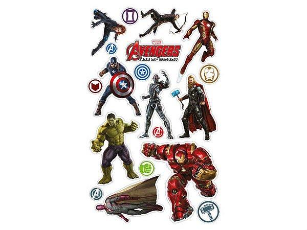 Mini Personagens Decorativos Vingadores c/ 28 unidades
