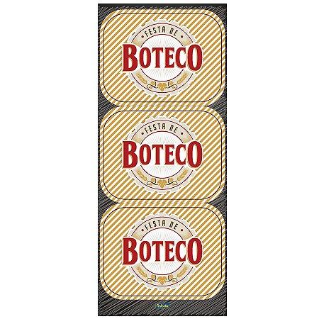 Adesivo Retangular - Festa de Boteco c/ 12 unidades