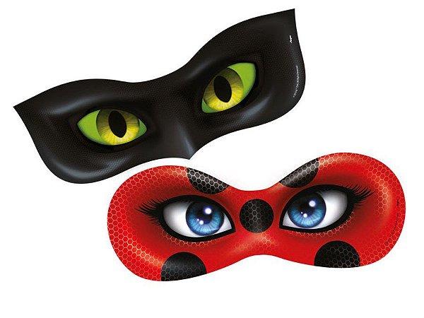 Máscara - Miraculous Ladybug c/ 6 unidades