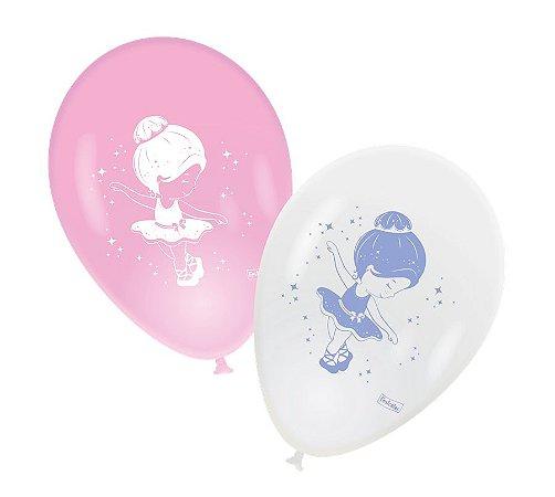 """Balão 9"""" - Bailarina c/ 25 unidades"""