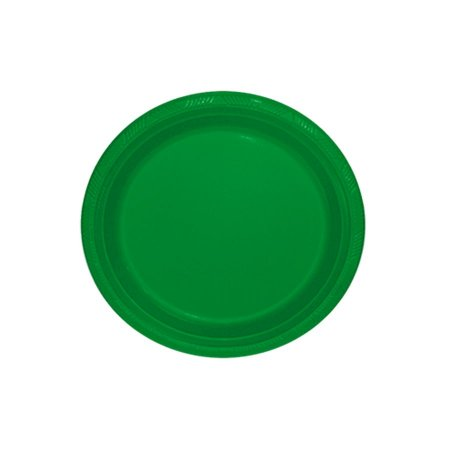 Prato de Plástico Refeição Verde Escuro c/ 10 unidades