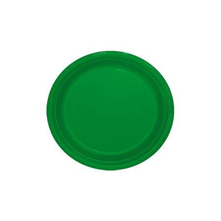 Prato de Plástico Sobremesa Verde Escuro c/ 10 unidades