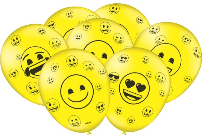"""Balão 9"""" - Emoji c/ 25 unidades"""