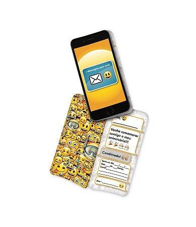 Convite - Emoji c/ 8 unidades