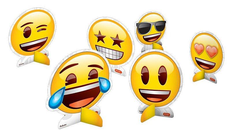 Decoração De Mesa - Emoji c/ 8 unidades