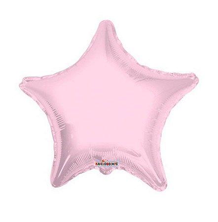 """Balão Metalizado Rosa Claro de Estrela 19"""""""