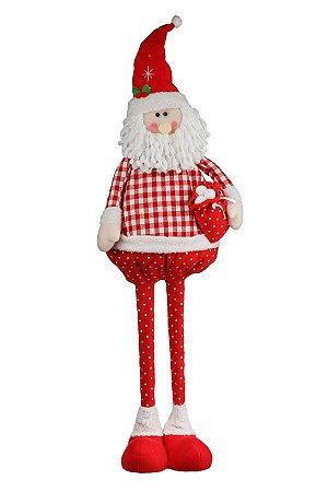 Boneco Papai Noel Extensiva Country 1,19m - Natal