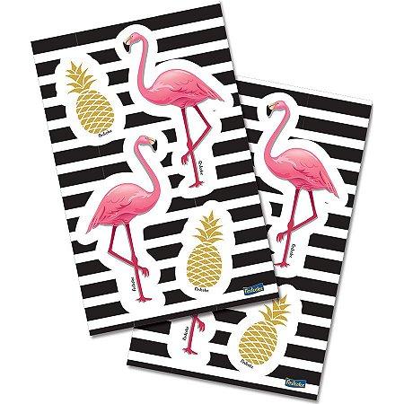 Adesivo Especial - Flamingo c/ 16 unidades