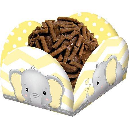 Porta Forminha - Elefantinho Amarelo c/ 40 unidades
