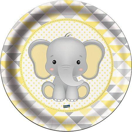 Prato - Elefantinho Amarelo c/ 8 unidades