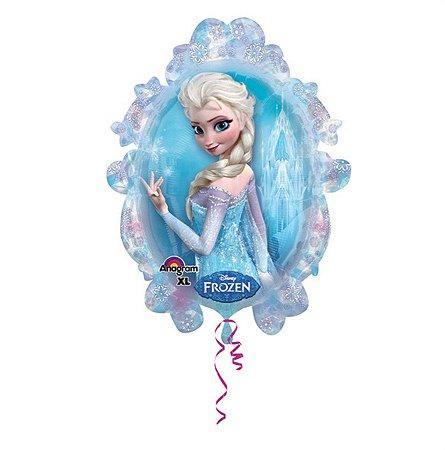 Balão Metalizado Elsa e Ana Frozen 18P