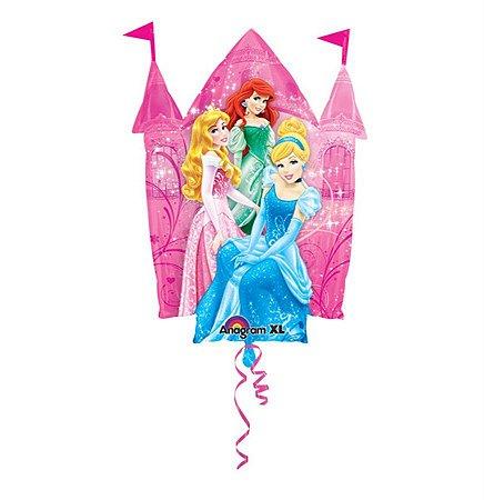 Balão Metalizado 14P Princesas Castelo