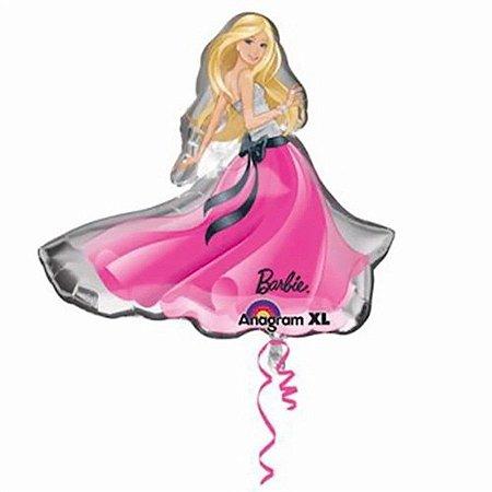 Balão Metalizado Supershape Barbie Vestido 23 Polegadas