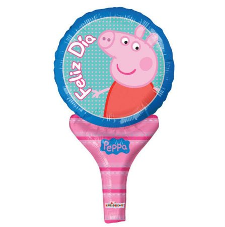 Balão Metalizado Sopre-Brinque Peppa Pig