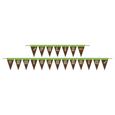 Faixa Feliz Aniversário - Mini Pixels c/ 1 unidade