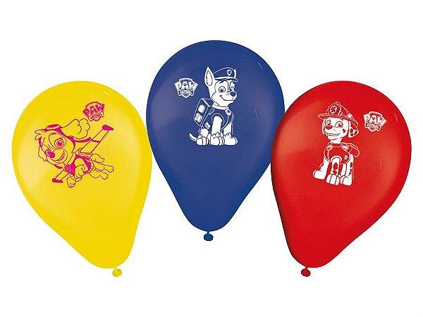 Balão Especial 9'' - Patrulha Canina c/ 25 unidades