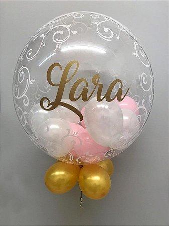 Balão Bubble Arabesco e Personalizado 24 Polegadas
