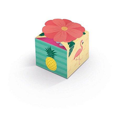 Caixa para Lembrancinhas - Flamingo c/ 8 unidades