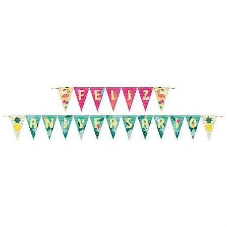 Feliz Aniversário - Flamingo c/ 1 unidade