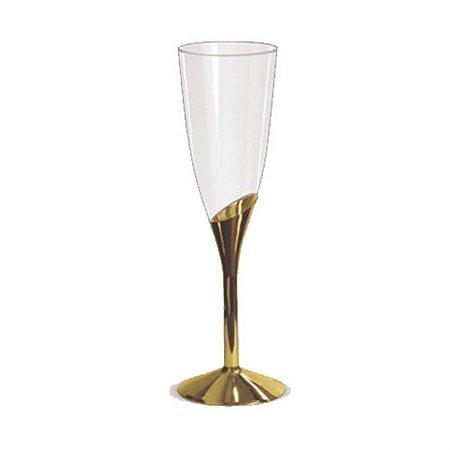 Taça De Champagne Base Gold c/ 6 unidades LUXO