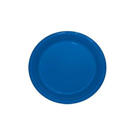 Prato de Plástico Sobremesa Azul Royal c/ 10 unidades