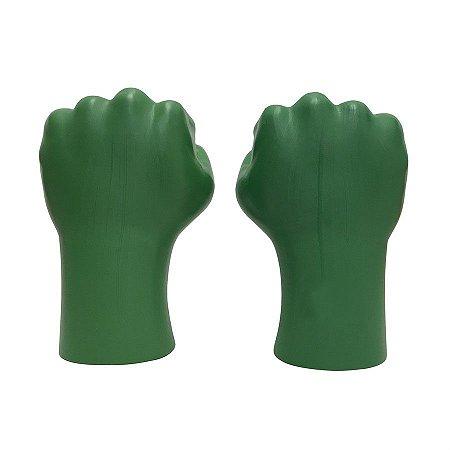 Mãos Do Super Herói Hulk Grande Leve De Plástico