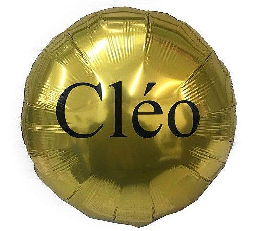 """Balão Metalizado Redondo 18 """" com 1 Linha de Personalizado"""