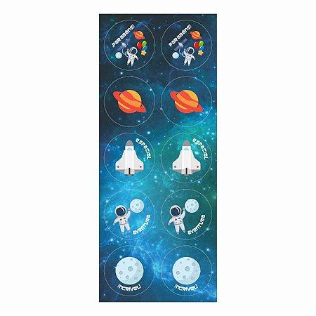 Adesivo Para Lembrancinha - Astronauta c/ 30 unidades