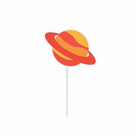 Topper Decorativo para Doces e Salgados - Astronauta Planeta c/ 10 unidades