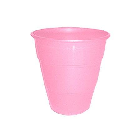 Copo de Plástico Reforçado Rosa Claro c/ 10 unidades