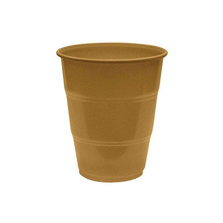 Copo de Plástico Reforçado Dourado c/ 10 unidades