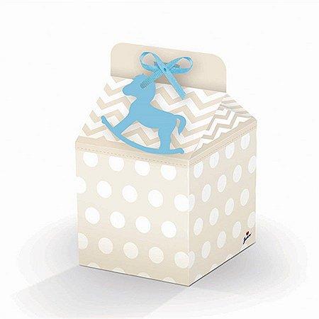 Caixa Milk - Chá de Bebê Menino c/ 8 unidades