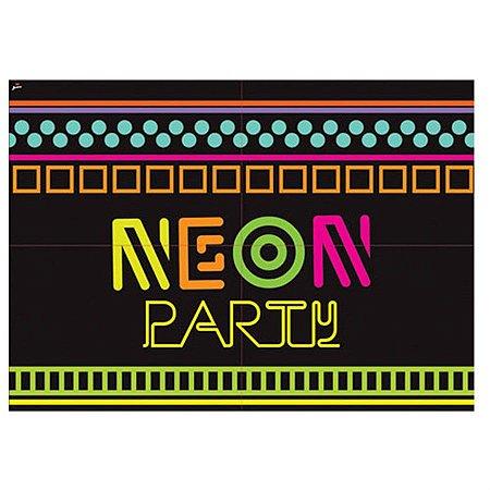 Painel Gigante de Parede - Neon Party C/ 1 unidade