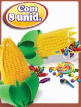 Caixa Surpresa Milho c / 8 unidades - Festa Junina