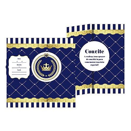 Convite - Realeza Menino c/ 8 unidades