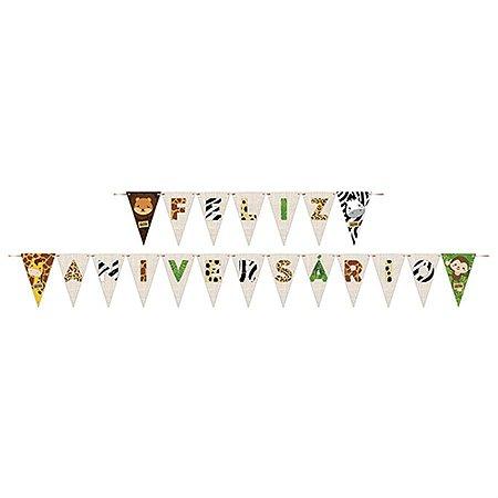 Faixa Feliz Aniversário - Bem-Vindo à Selva c/ 1 unidade