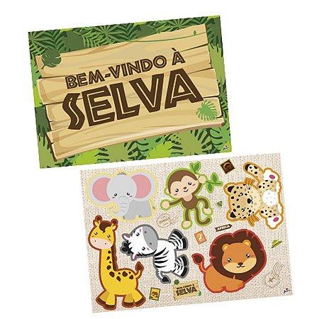 Kit Decorativo - Bem-vindo à Selva C/ 1 Unidade