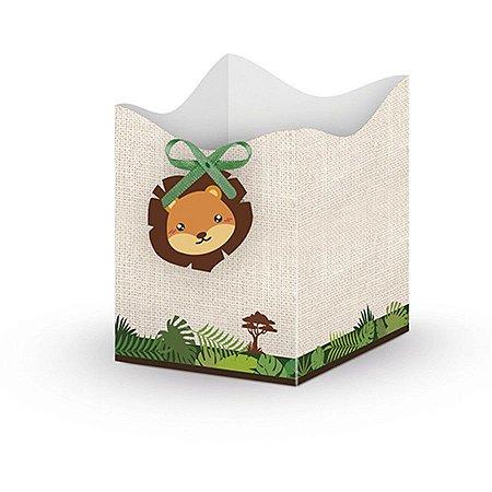 Mini Cachepot e Scrap de Festa - Bem-Vindo à Selva c/ 8 unidades