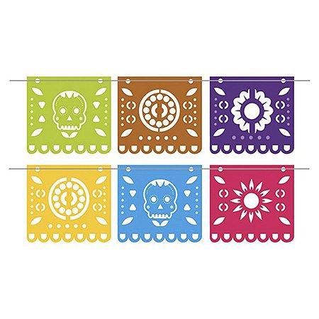 Bandeirola - Caveira Mexicana c/1 unidade