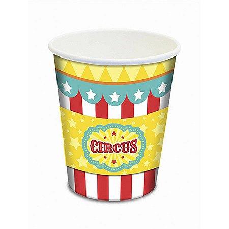 Copo De Papel 180 ml - Circo Menino c/ 8 unidades