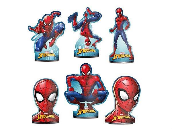 Decoração de Mesa - Homem Aranha c/ 6 unidades